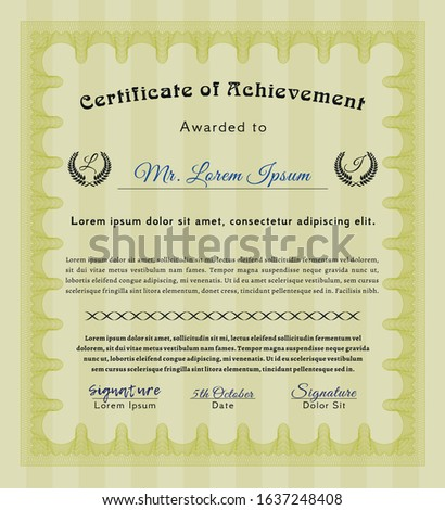 Yellow Diploma. Printer friendly. Lovely design. Customizable, Easy to edit and change colors.