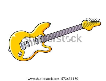 free electric guitar vector - download free vector art, stock