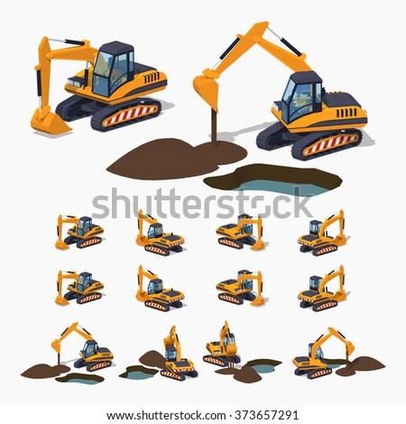 yellow excavator special