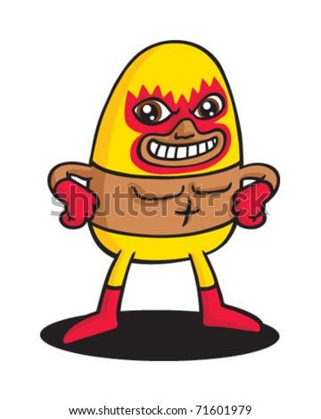 Yellow Fire wrestler
