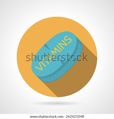 yellow flat color design round