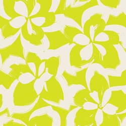 Yellow Floral brush strokes seamless pattern background for fashion prints, graphics, backgrounds and crafts