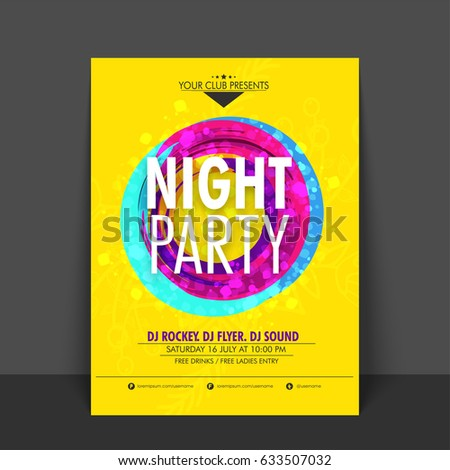 yellow flyer  template or