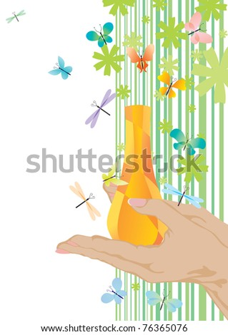 yellow fragrance and butterflies