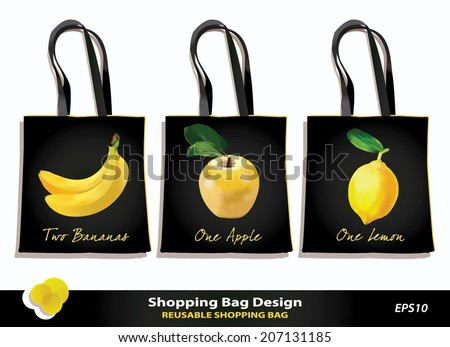 Shopping Bags Design Template Shopping Bag Design