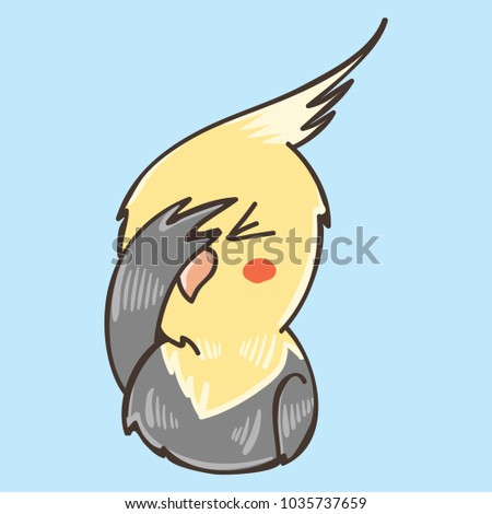 yellow funny parrot facepalm