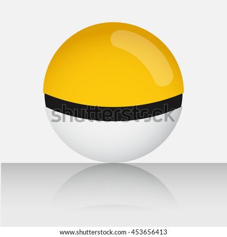 yellow game balls set to play