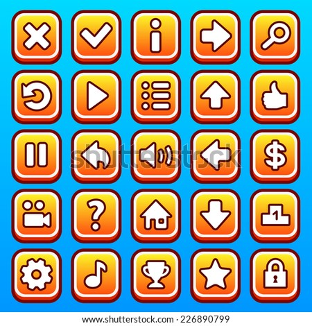 stock-vector-yellow-game-icons-buttons-2