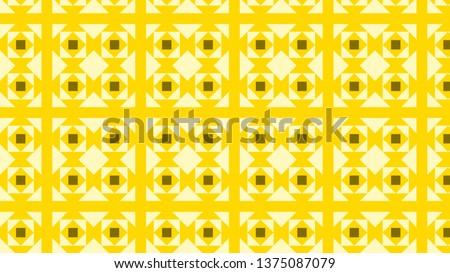 Yellow Geometric Square Background Pattern Vector Illustration #1375087079