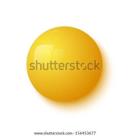 yellow glossy button vector