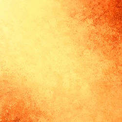 Yellow gold background vector with vintage texture grunge and orange fiery borders in warm autumn or tuscan colors