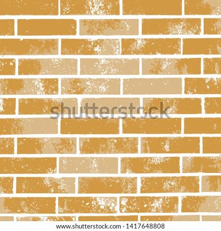 yellow gold brick wall vector