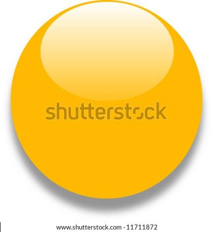 Yellow gold glass web button