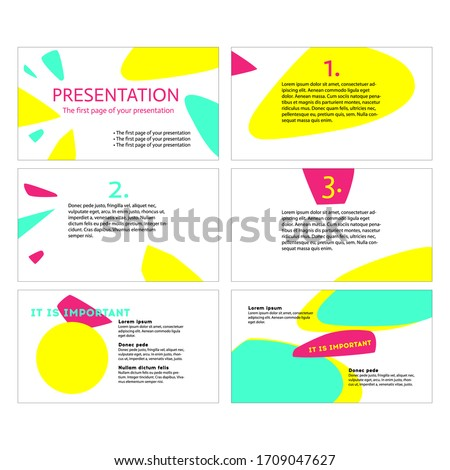 Yellow, green and pinkish coloured modern abstract unique template for online course, presentation, poster, booklet, slide, website, infographic. Make memorable impression with top vector illustration
