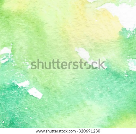 yellow green white watercolor