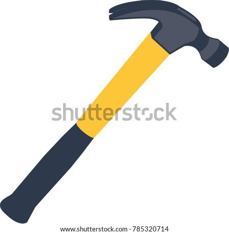 Yellow hammer isolated