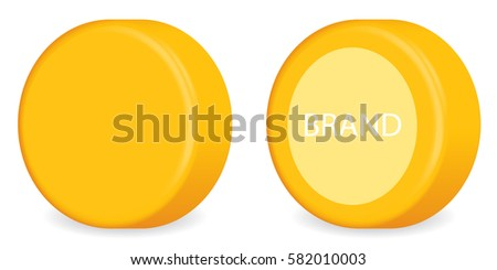 Yellow Head ( Wheel ) of Cheese. Isolated Vector version on white background.