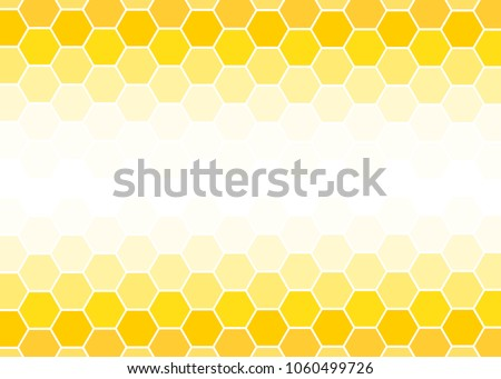 Yellow Hexagon abstract background vector design.