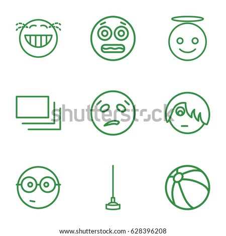 yellow icons set set of 9