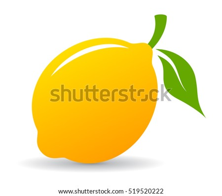 yellow lemon vector icon