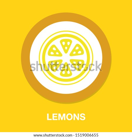 yellow lemons   vector fresh