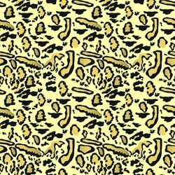 Yellow leopard pattern on a light background, pastel shade of mint color. Print, trendy pattern in vector graphics. Abstract wallpaper, fabric, pattern