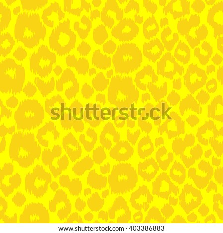yellow leopard pattern seamless