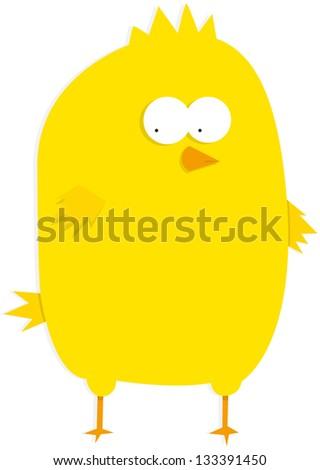 Yellow little baby chicken