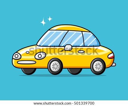 yellow luxury sports car