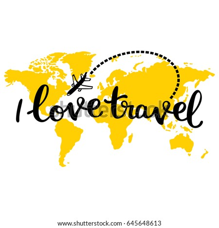 yellow map of world i love