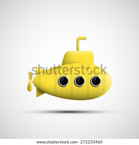 yellow metal submarine vector
