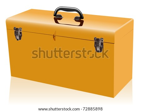 yellow metal tool box