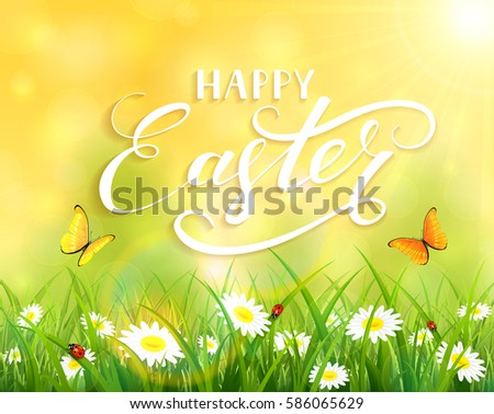 yellow nature easter background