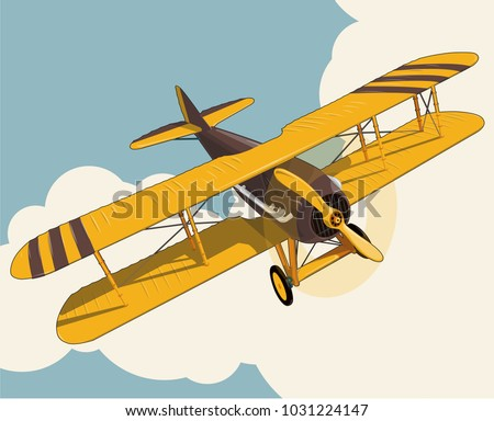 yellow plane flying over sky