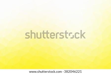 yellow polygonal illustration ...