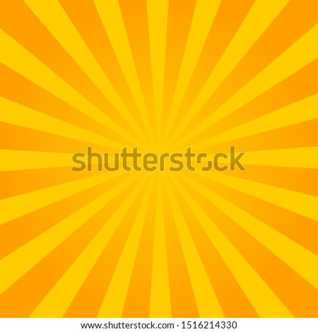 Yellow pop art comic background with blast halftone dot.Cartoon comic explosion pattern with radial sun. Comic background in retro style. vector eps10 Foto stock ©