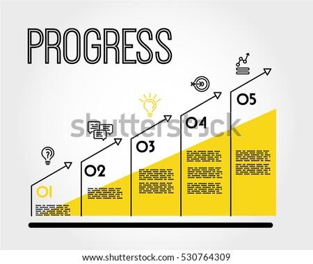 yellow progress infographic...
