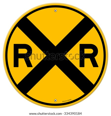 yellow rail sign   railroad...