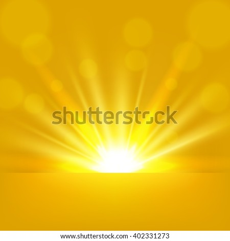 yellow rays rising background