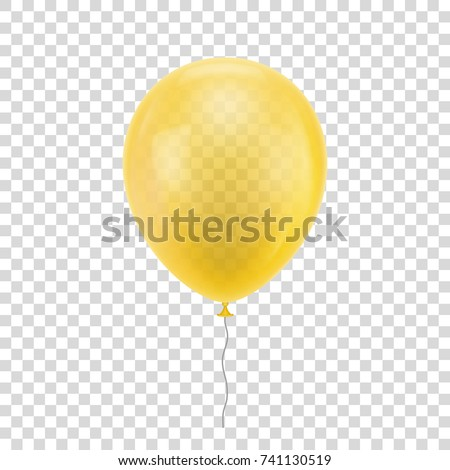 yellow realistic balloon blue