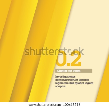 Yellow Retro Abstract Design / number two - Fully editable / suitable for infographics / numbered banners / yellow design template