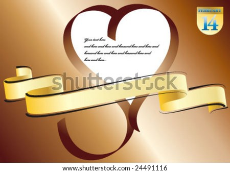 Yellow ribbon heart shape and text field