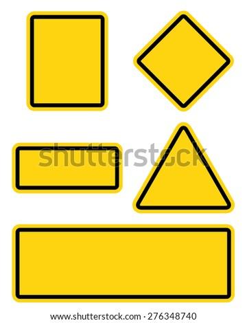 Yellow Roadsigns Set #276348740