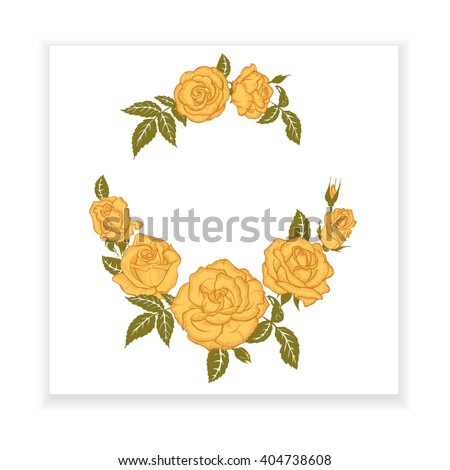 yellow rose  element for design