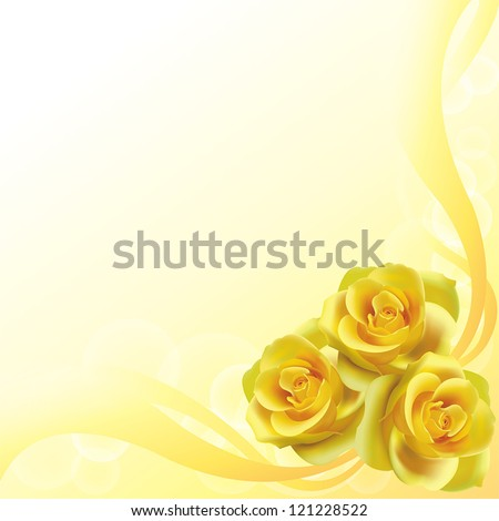 yellow roses flower background