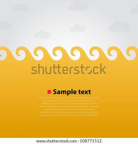 Yellow sea background