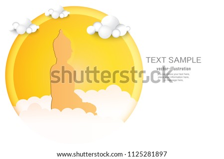 yellow shadow buddha statue on