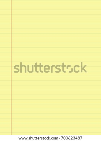 yellow sheet. notepad. Office Equipment, School Supply Vector Paper Notebook