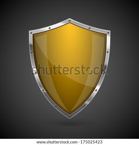 Icon Yellow Yellow Shield Icon Eps10