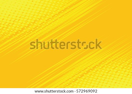 Shutterstock Yellow side hatch with halftone effect. Vintage pop art retro vector illustration